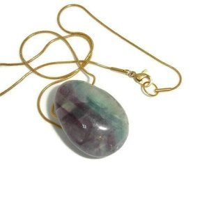 Fluorite necklace Fluorite nugget jewelry gemstone